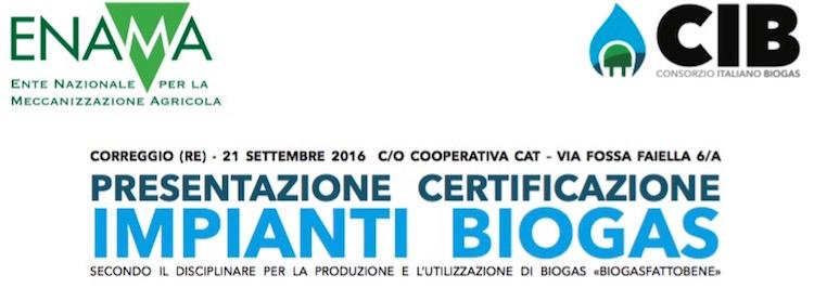 Biogasfattobene presentazione certificazione impianti for Certificazione impianti