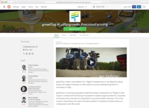 Precision farming, New Holland Agriculture e growITup lanciano #CallForGrowth