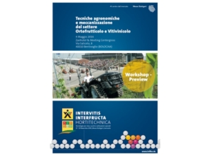 Tecniche agronomiche e meccanizzazione del settore ortofrutticolo e vitivinicolo