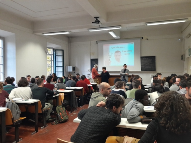 Lezione di agricoltura digitale all'Università di Pisa