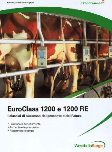 Sale di mungitura a spina di pesce: EuroClass 1200 ed EuroClass 1200 RE