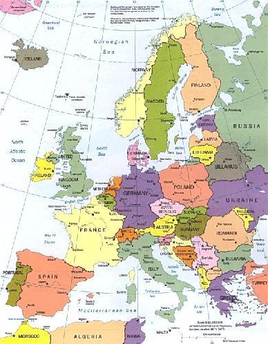 Europa-mappa