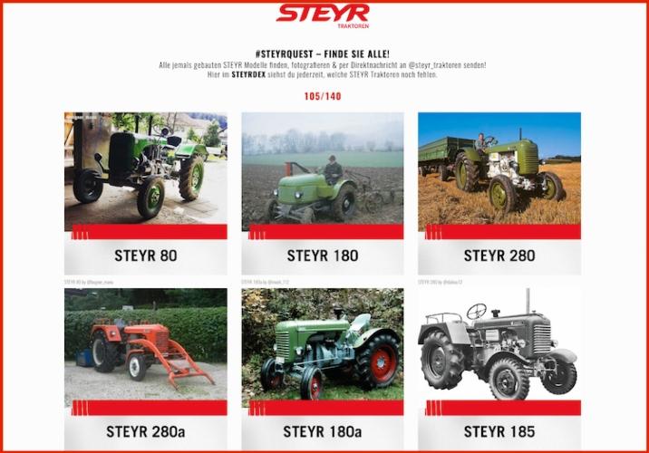 Steyr Quest, caccia al trattore