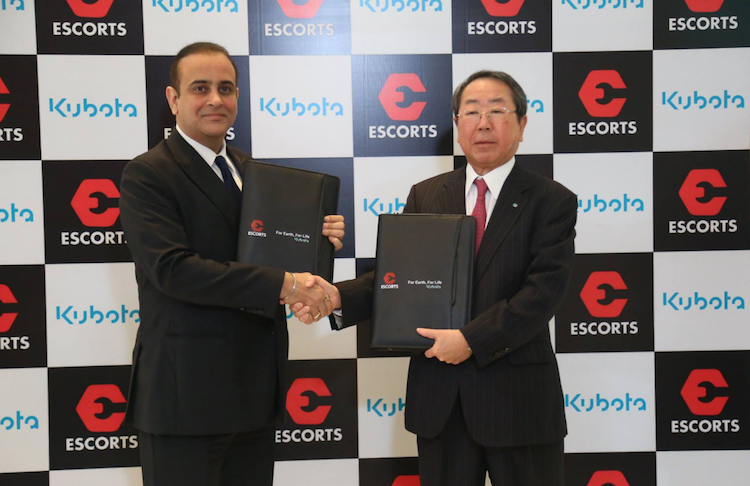 Joint-venture Kubota Escort: unione globale