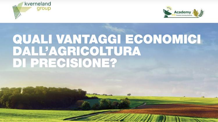 Quali vantaggi economici dall'agricoltura di precisione?