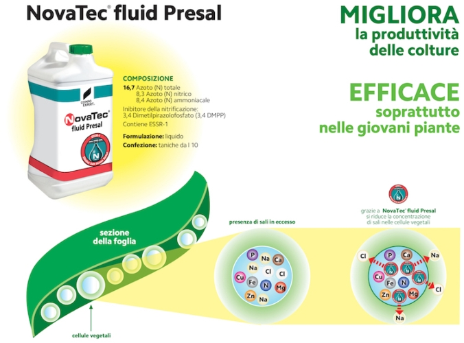 Contro l'eccessiva salinit&agrave; c'&egrave; NovaTec<sup>&reg;</sup> fluid Presal - le news di Fertilgest sui fertilizzanti