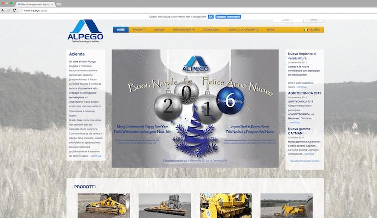 """In """"regalo"""" da Alpego il nuovo sito web"""