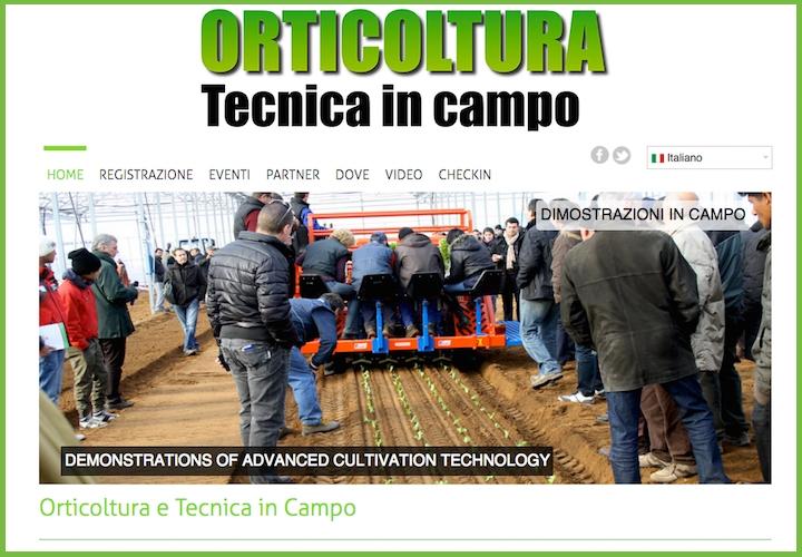 L'orticoltura in campo con Ferrari costruzioni meccaniche