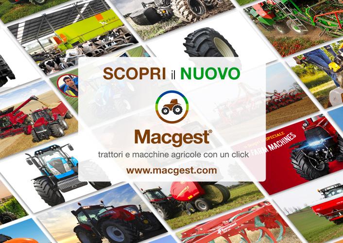 Trattori e attrezzature agricole, è online il nuovo Macgest