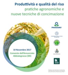 Riso: pratiche agronomiche e nuove tecniche di concimazione