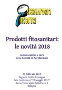 Prodotti fitosanitari: le novità 2018