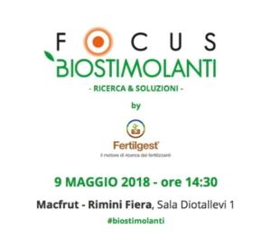 Focus biostimolanti 2018: ricerca & soluzioni