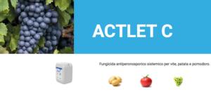 Actlet<sup>&reg; </sup>C: il pioniere della nuova linea dei fungicidi sistemici di Ascenza<sup>&reg;</sup> Italia