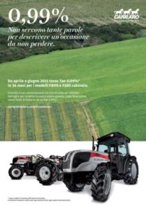 Carraro Agricube: partono i finanziamenti