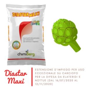 Diastar maxi: estensione eccezionale su carciofo per nottue e elateridi