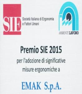 Emak riceve il Premio Sie 2015