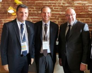 global-food-forum-2018-ministro-italiano-gian-marco-centinaio-presidente-confagricoltura-massimiliano-giansanti-ministro-francese-stephane-travert-fonte-confragricoltura