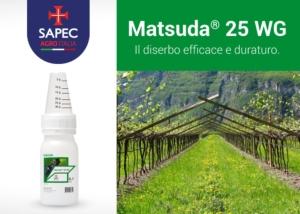 Matsuda<sup>&reg; </sup>25 WG: il diserbo efficace e duraturo!