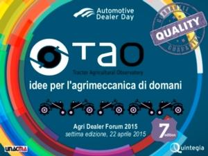 Tao - Agri Dealer Forum, il programma completo